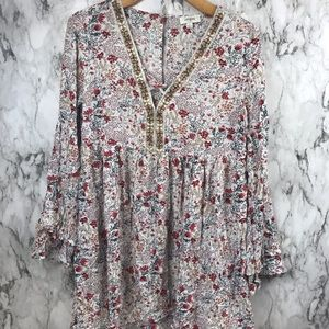 Anthropologie Umgee Bohemian Blouse Floral L